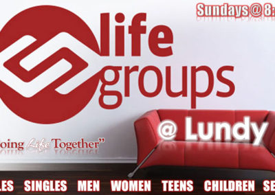 Join Us For Our Life Groups every Sunday at 8:45 am!