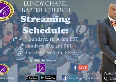 Stream Our Services LIVE and On-Demand every Sunday!